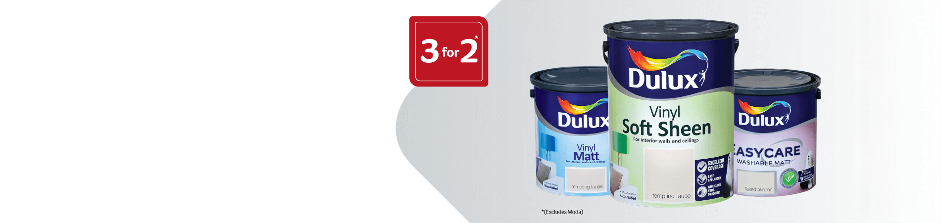 3 for 2 Dulux Interior Paint