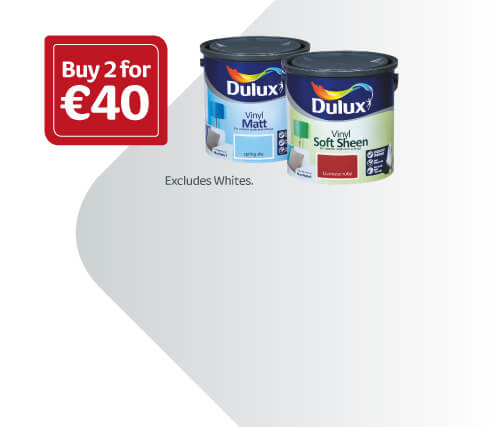 2-for- €40 - 2.5-Litre Dulux-Standard-Coloured-Emulsion