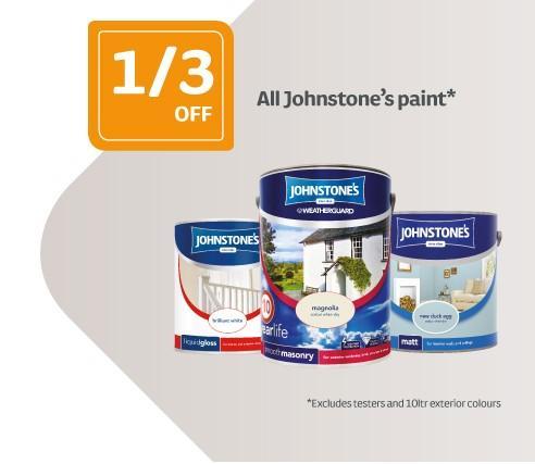 1/3 Off All Johnstones Interior & Exterior Paint