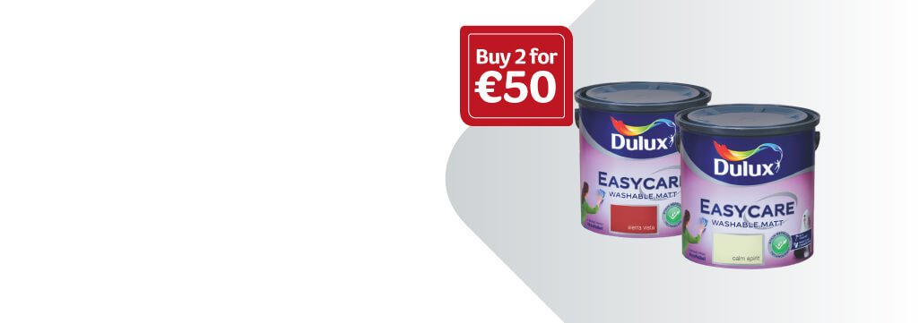 Dulux Easycare - Buy 2 x 2.5lt for €50