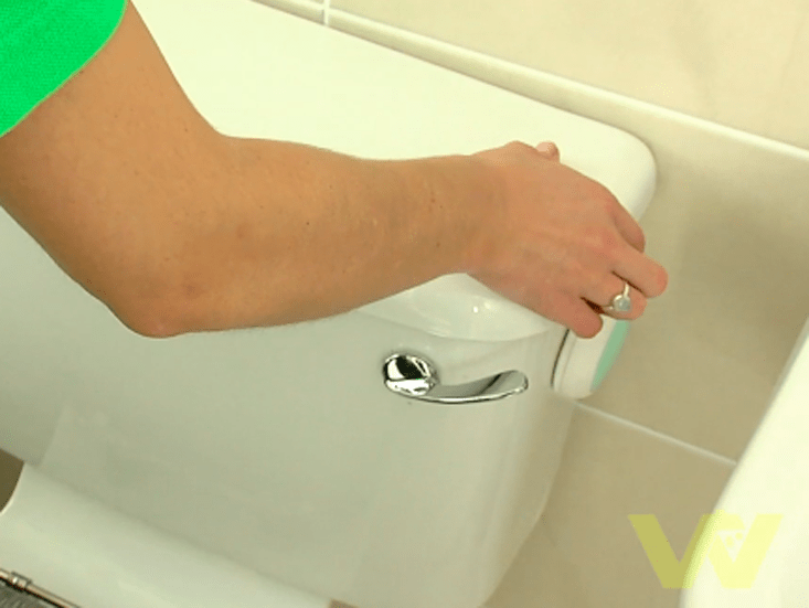 1 Remove The Lid From Top Of Cistern Toilet And Set Aside In A Safe Place