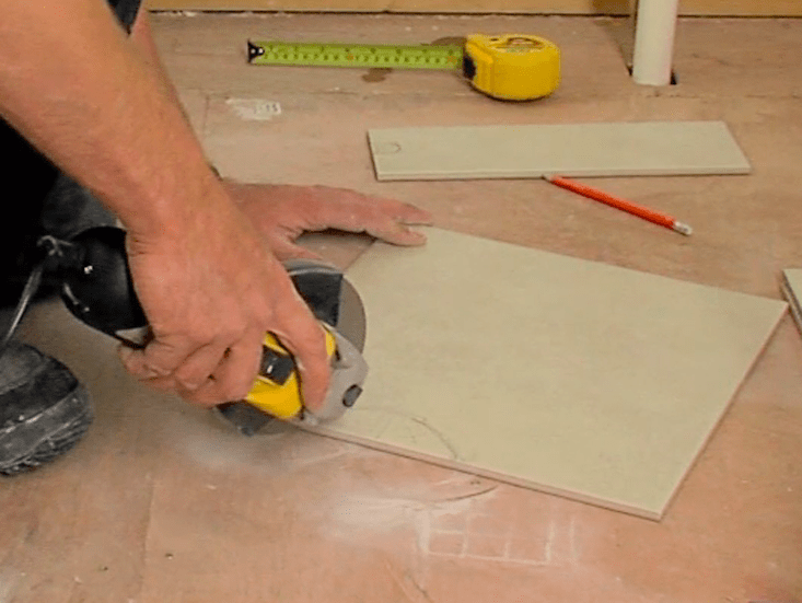 19 Use An Angle Grinder To Trim Those Awkward Areas. Top Tip: There Is A  Difference Between A Floor Tiling Trowel And A Wall Tiling Trowel.