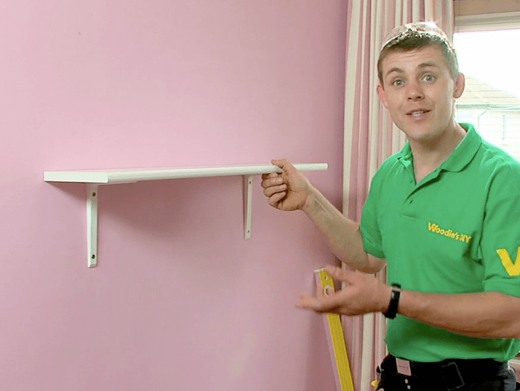 How To Fix A Shelf To A Plasterboard Wall | Woodie's