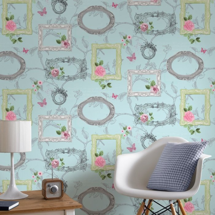 beautiful wallpaper with frames
